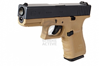 Пистолет пневм GLOCK  G19 gen4 Tan GAS GBB (WE)