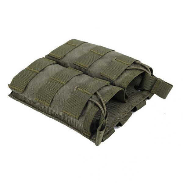 Подсумок Tactical MOLLE Double Open Top Mag Pouch M4/M16 OD