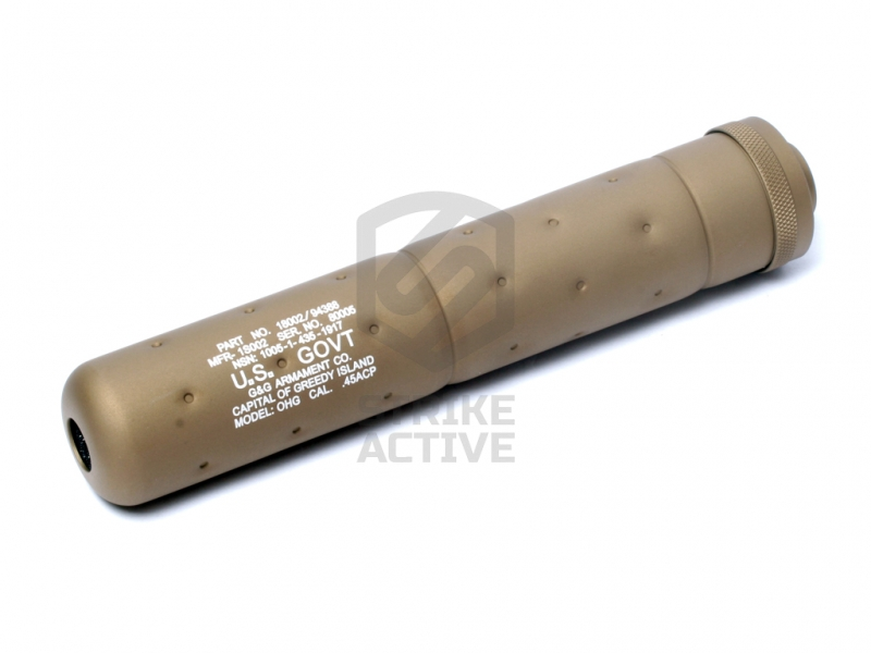 Глушитель G-01-004-1 SOCOM Mock Suppressor-L Desert Tan (14mm CCW) (G&G)
